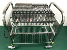 Panasonic CM402 feeder storage cart with electric control