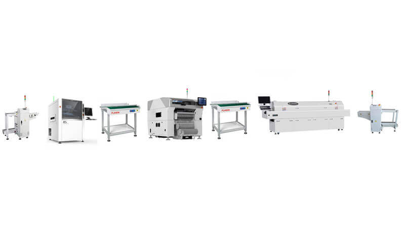 Middle Speed JUKI RS-1 Automatic SMT Assembly line