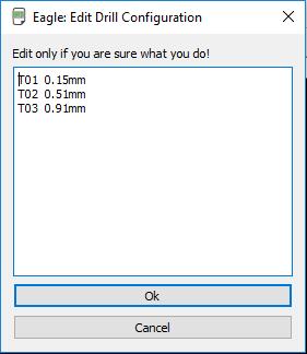 edit drill configuration